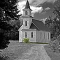 Riverside Presbyterian Church 1800s Bw by Mark Sellers