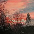 Riverton Sunset by Karen  Peterson