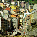 Riviera Hill Town Italy by William Gardner