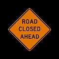 Road Closed T-shirt by Herb Strobino