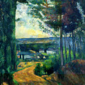 Road Leading To The Lake, By Paul Cezanne, Circa 1880, Kroller-m by Peter Barritt