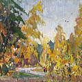 Road Of Autumn by Juliya Zhukova