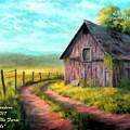Road On The Farm Haroldsville L A by Gert J Rheeders