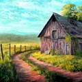Road On The Farm Haroldsville L B by Gert J Rheeders