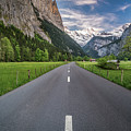 Road Through Lauterbrunnen Valley by James Udall