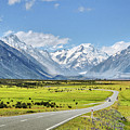 Road To Aoraki by Delphimages Photo Creations