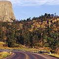 Road To Devils Tower Crossing Belle Fourche River by Jeremy Woodhouse