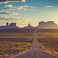 Road To Monument Valley Forest Gump Point by Teri Virbickis