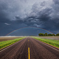 Road To Nowhere - Rainbow by Aaron J Groen