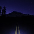 Road To Rainier At Night by Dan Sproul