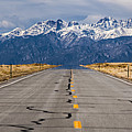 Road To The Mountains Panorama by Benjamin Reed