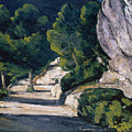 Road With Trees In Rocky Mountains by Cezanne