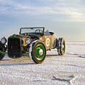 Roadster On The Salt Flats 2012 by Holly Martin