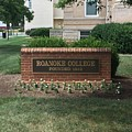 Roanoke College Sign by Andrew Webb