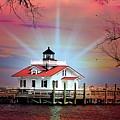 Roanoke Marshes Lighthouse, Manteo, North Carolina by Ed Sanseverino Photography