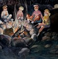 Roasting Marshmallows by Marilyn Jacobson