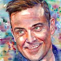 Robbie Williams Portrait by Suzann Sines