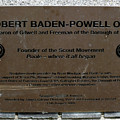 Robert Baden-powell Plaque by Dave Philp