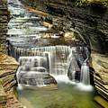 Robert H. Treman State Park Gorge Upper Falls by Karen Jorstad