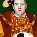 Robert Lewandowski As King Of Soccer by Maciej Mackiewicz