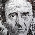 Roberto Bolano Biro Drawing  by Paul Sutcliffe