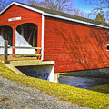 Roberts Covered Bridge by Jack R Perry