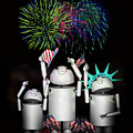 Robo-x9 And Family Celebrate Freedom by Gravityx9  Designs