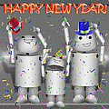 Robo-x9 New Years Celebration by Gravityx9  Designs