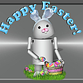 Robo-x9 The Easter Bunny by Gravityx9 Designs