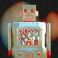 Robot Pop Art R-1 by Edward Fielding
