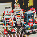 Robots Of Retro Cool by Jorgo Photography - Wall Art Gallery