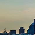 Rochester Ny Panorama At Dusk by Ray Sheley