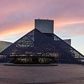 Rock And Roll Hall Of Fame At Sunset  by John McGraw