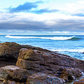 Rock And Wave by Perry Webster
