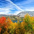 Rock Creek Lake Fall Panorama by Lynn Bauer