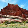 Rock Formation Of La Sal Mountains by Corey Ford