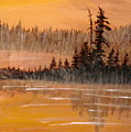 Rock Lake Morning 3 by Ian  MacDonald