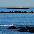 Rock Ledges And Calm Seas by Bill Driscoll