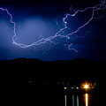 Rock Mountains Foot Hills Lightning Storm by James BO Insogna