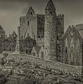 Rock Of Cashel Monochrome by Teresa Wilson