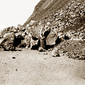 Rock Slide On Highway One Big Sur, Cal Circa 1930 by California Views Archives Mr Pat Hathaway Archives