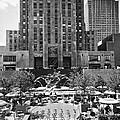 Rockefeller Center Plaza by Underwood Archives