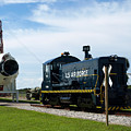 Rocket Locomotive At Cape Canaveral In Florida by Allan  Hughes