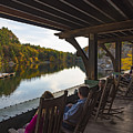 Rocking Chairs On The Porch At Mohonk Moutain House by Alissa Beth Photography