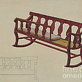 Rocking Settee Cradle by Beverly Chichester
