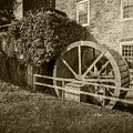 Rockland Grist Mill - Sepia by Brian Wallace