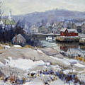 Rockport Harbor In Winter by Chris Coyne