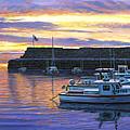 Rockport Ma Sunset by Bruce Dumas