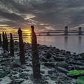 Rocks And Bridge by Mike Deutsch