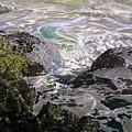 Rocks And Sea Foam by Olga Spiegel